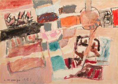 """""""Sin título"""", 1961. Manuel Hernández Mompó, (Valencia, 1927 – Madrid, 1992)."""