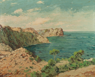 """Costa Brava"", Esteban Grunwald Alsge (Hungría, 1909-?)"