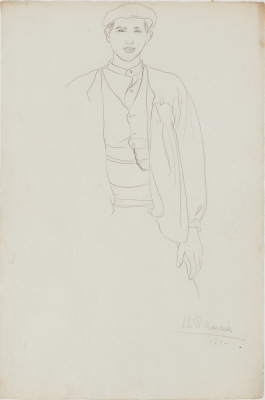 """""""Joven campesino"""". BENJAMÍN PALENCIA (Barrax, Albacete, 1894 – Madrid, 1980)."""