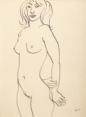 """""""Fig. desnuda de pie"""", 1989. DOKOUPIL, Jiri Georg (República Checa, 1954)."""