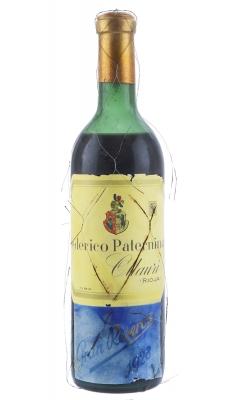 Botella de Federico Paternina Reserva 1928.