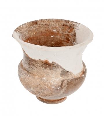 Cerámica ibérica, trazos de decoración pintada. S. V/I aC