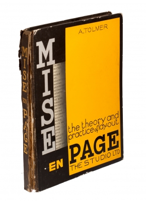 """""""Mise en Page: The Theory and Practice of Lay-Out""""., Alfred Tolmer (1876-1957)."""