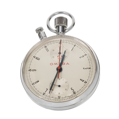 Reloj Cronógrafo Olímpico Omega, split second/rattrapante. Año 1963
