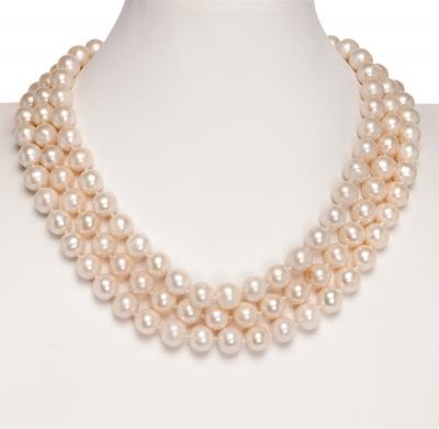 Collar perlas cultivadas cierre oro 14K