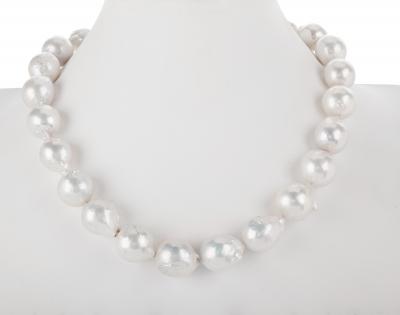 Collar de perlas australianas barrocas