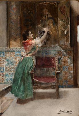 "JOAQUÍN SOROLLA Y BASTIDA (Valencia, 1863 – Cercedilla, Madrid, 1923).""La Santera""."