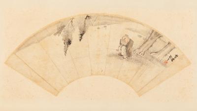 Pintura de abanico; China. Finales del siglo XIX.