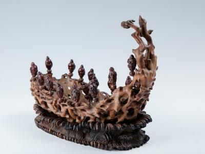 Escultura tallada. China, Dinastía Qing.