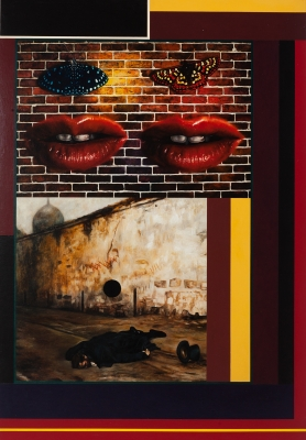 """""""Up againt the wall (fragment by gate way), 1997/8., Peter Phillips"""
