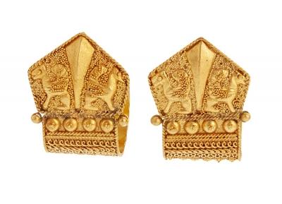 Pendientes en oro amarillo 24 Kts