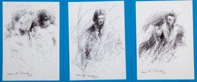 """Retratos"".  Juan Antonio Toledo, (Valencia, 1940 – 1995)."