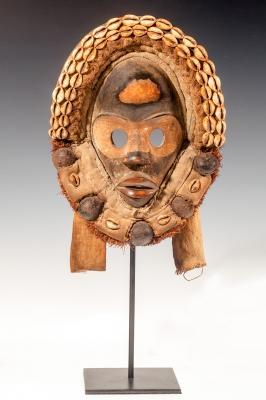 Máscara del pueblo Dan; Costa de Marfil, finales del siglo XIX.