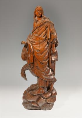 Figura de San Juan Evangelista, Escuela flamenca, siglo XVI-XVII.