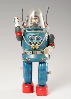 Juguete Robot Rosko astronauta, 1950-60.