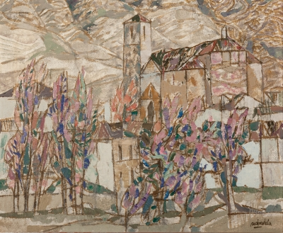 """Duron, (Guadalajara)"". 1991. Agustín Redondela, (Madrid, 1922)."