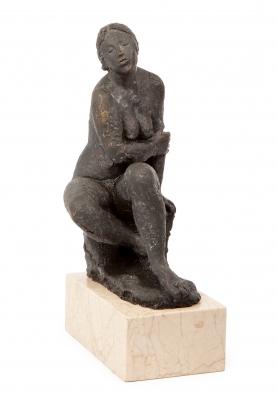 """Mujer sentada"". Octavio Vicente Cortina"