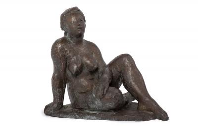 """Mujer tumbada"". Octavio Vicente Cortina (Valencia, 1913 - 1999)"