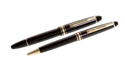 Juego de pluma y bolígrafo Meisterstück de MONTBLANC.