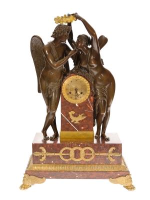 Reloj Primer Imperio L'Amour. Francia,  1820.