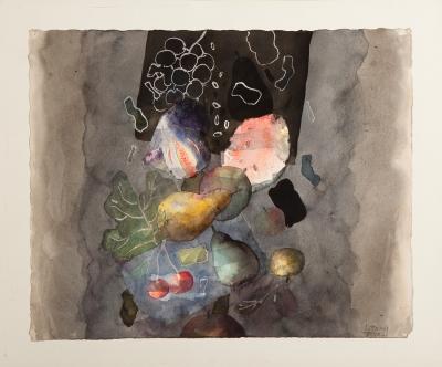 """""""Composición con frutas"""". Cristóbal Toral (1940)."""