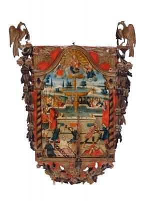 Icono ruso o griego, siglo XVII.