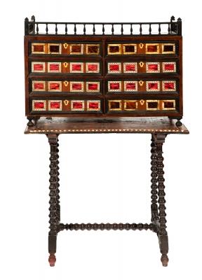 Pequeño bargueño español, Siglos XVII-XVIII.