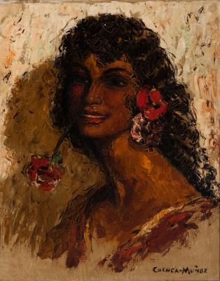 """Mi gitana"". Rafael Cuenca Muñoz (1895-1967)."