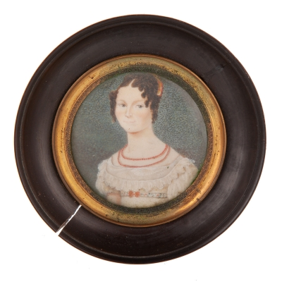 Miniatura sobre marfil, primera mitad del siglo XIX.