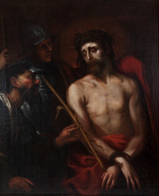 "Escuela italiana del siglo XVII. ""Ecce Homo""."