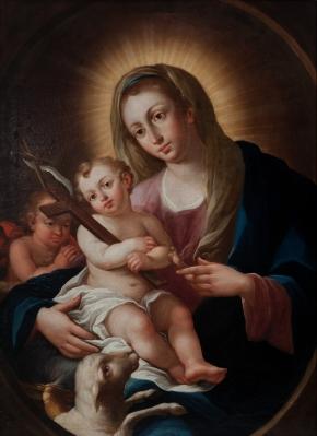 """""""Virgen con Niño"""". Siglo XVIII."""