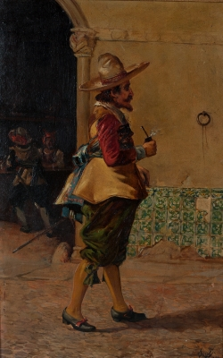 """Caballero con pipa""."