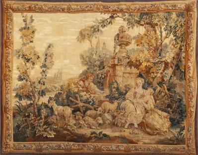Tapiz de Aubusson. Francia, Segunda mitad siglo XVIII.