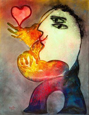 """""""Mujer con corazón"""". 2002"""