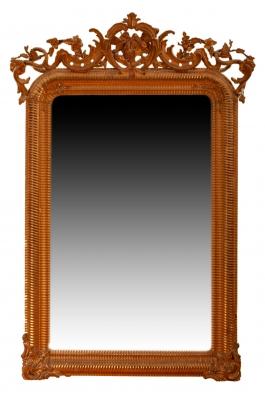Espejo isabelino, segunda mitad del siglo XIX.