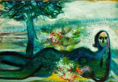 """Mujer del árbol"". Joan Ripollés, (Castellón, 1932)."