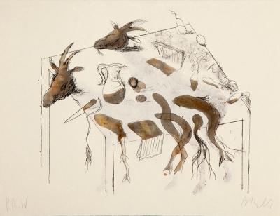 """""""Acróstico de cabras III y IV"""", 1991"""