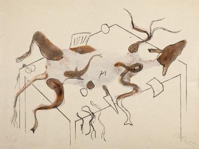 """MIQUEL BARCELÓ ARTIQUES (Felanitx, Mallorca, 1957).""""Acróstico de cabras I y II"""", 1991"""