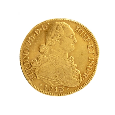 Moneda de Oro de Fernando VII.