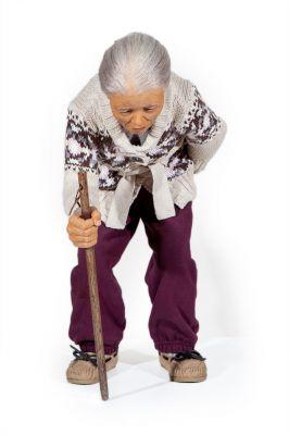"JACKIE K. SEO (Corea, 1972)""Old lady with a walking stick"", 2009."