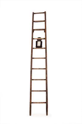"VICTOR MIRA (Zaragoza, 1949 – Munich, 2003).""Ladder"", 1993Wood and metalMeasures: 275 x 41 cm."