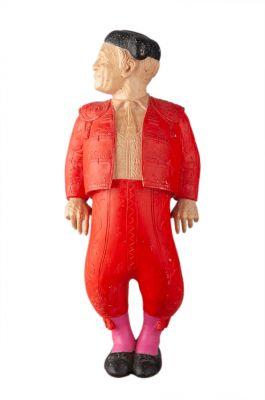 """LAUREANO GISCA (Rumania, 1970)""""Red torero""""Wood sculptureMeasures: 28 x 18 x 17 cm.."""