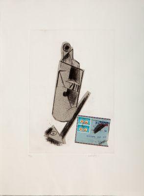"""Botella, correo y pipa, 1985"
