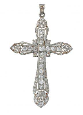 Colgante en forma de cruz de estilo Isabelino ppio. S.