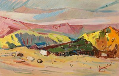"GENARO LAHUETA LÓPEZ, (Valencia, 1905 – 1985).""Landscape""Oil on canvas."