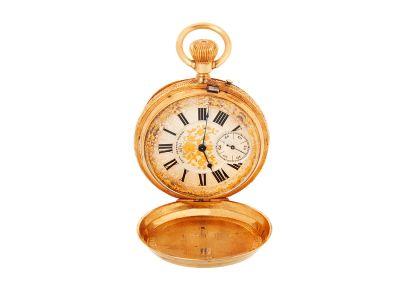 Reloj PAUL JEANNOT de bolsillo en oro amarillo de 18 kts., núm. 5895. pps. XX
