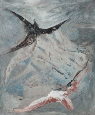 "PASCUAL TARAZONA""Birds II""Mixed media on canvasSigned and titled in the reverseMeasures: 55 x 46 cm.."