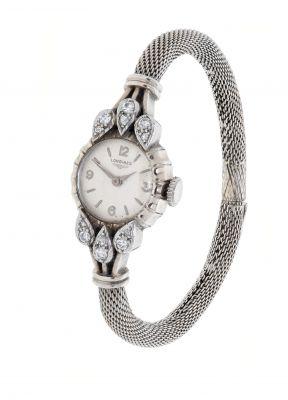 Reloj oro blanco 18 Kts marca Longines