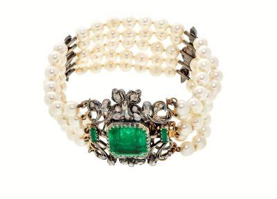 Pulsera de perlas cultivadas y oro 18 Kts