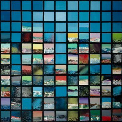"""ARMANDO RABADÁN (Sevilla, 1986)""""Little blue"""", 2016Óleo sobre lienzoFirmado y fechado por el reverso.Medidas: 93,5 x 93,5 cm."""